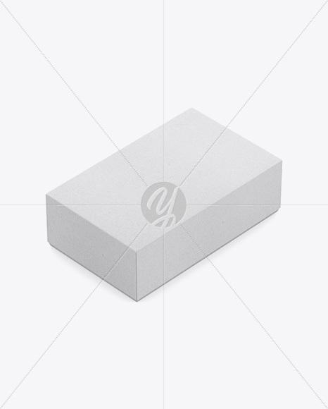 Kraft Box Mockup - Half Side View (High-Angle Shot)