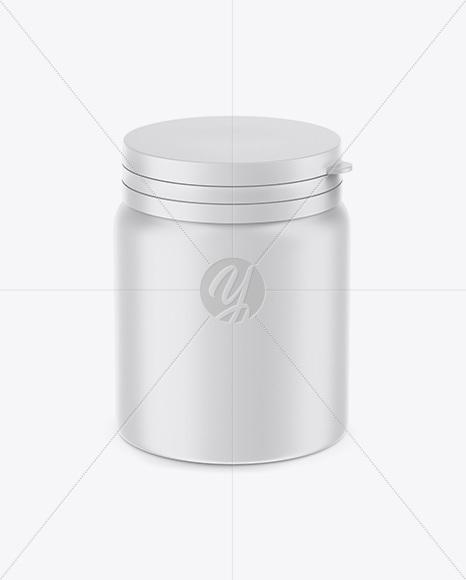 Matte Plastic Pills Jar Mockup - High-Angle Shot