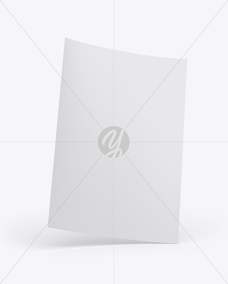 Textured A4 Paper Mockup