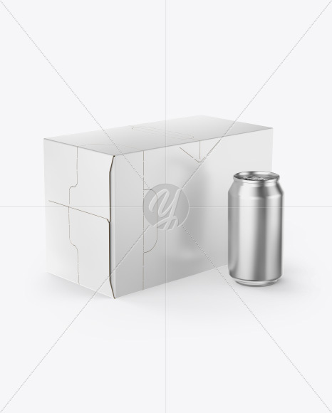 Box with Can Mockup