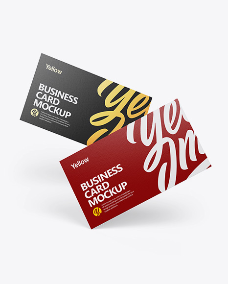 Download Paper Business Cards PSD Mockup