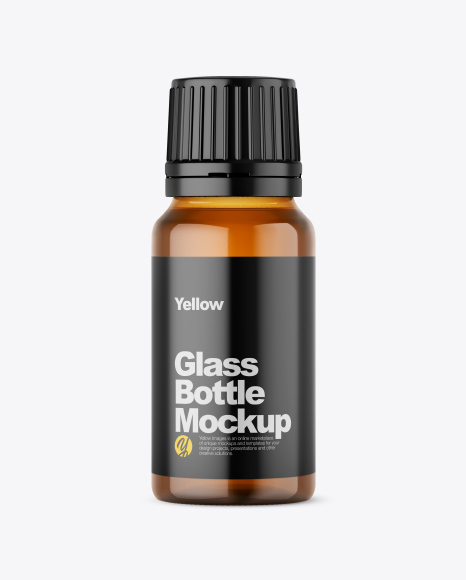 Download Amber Glass Bottle PSD Mockup