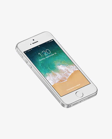 Download Isometric Apple iPhone SE PSD Mockup