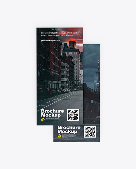 Download Two Textured Brochures PSD Mockup