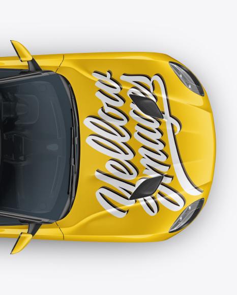 Download Sport Car Top View PSD Mockup
