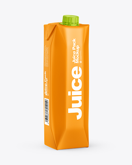 Download Glossy Juice Pack with Screw Cap PSD Mockup