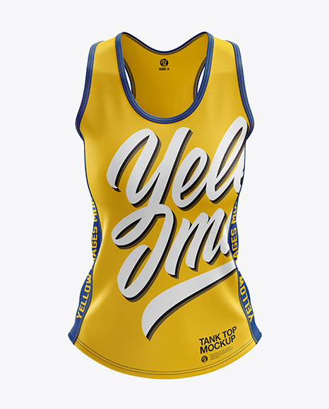 Download Womens Running Singlet 2020Front View PSD Mockup