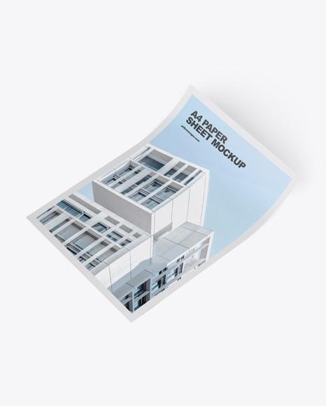 Download Paper Sheet PSD Mockup