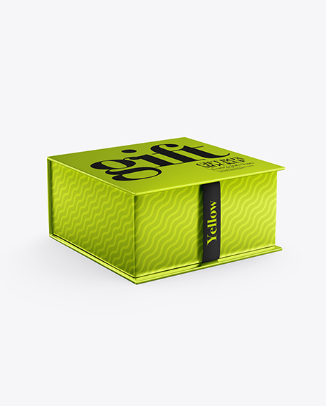 Download Metallic Box PSD Mockup
