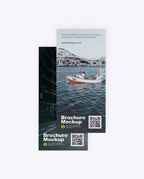 Download Two Brochures PSD Mockup