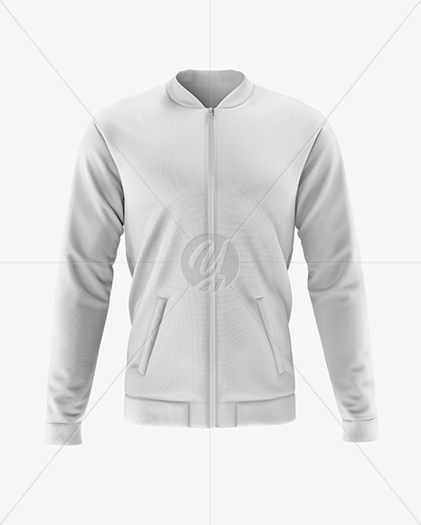 Men's Bomber Jacket Mockup - Front View