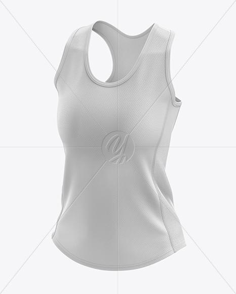 Women's Running Singlet mockup (Half Side View)