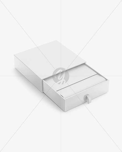 Opened Glossy Box Mockup
