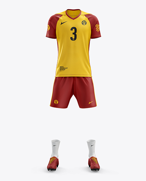 Men's Full Soccer Kit mockup (Front View)