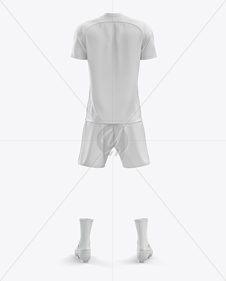 Men's Full Soccer Kit mockup (Back View)
