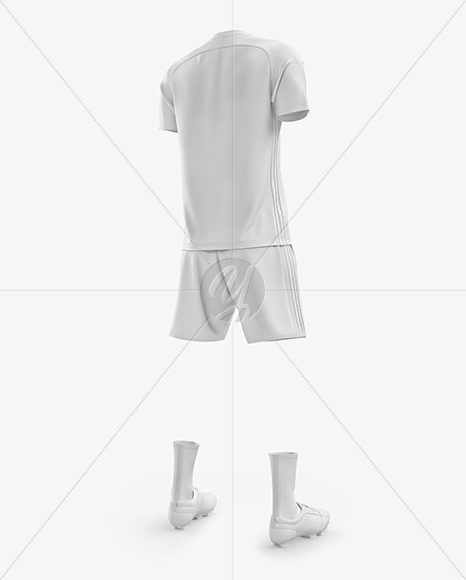 Men's Full Soccer Kit mockup (Hero Back Shot)