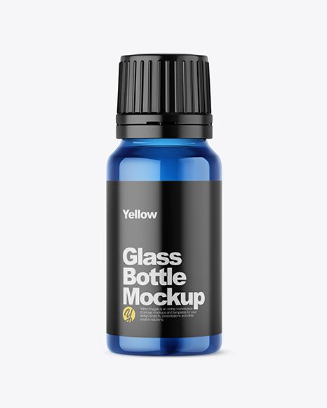 Download Blue Glass Bottle PSD Mockup