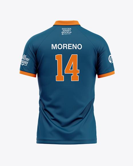 Download Mens Soccer Jersey Back View PSD Mockup