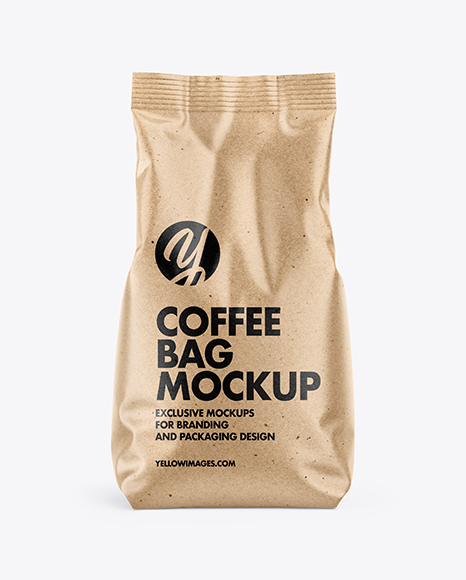 Download Kraft Coffee Bag PSD Mockup