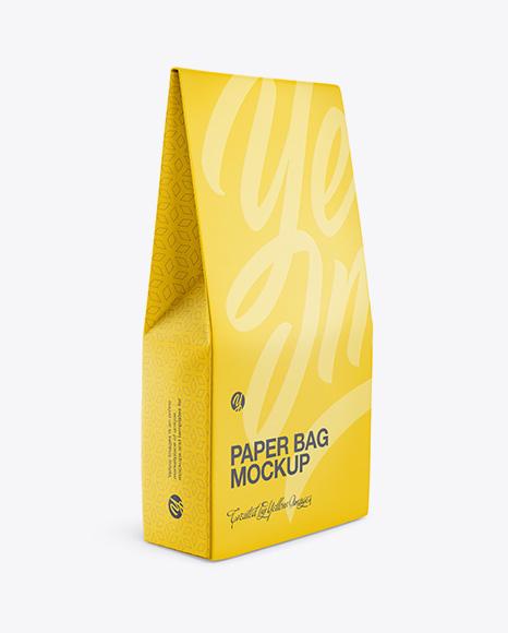 Download Paper Bag Half Side View PSD Mockup