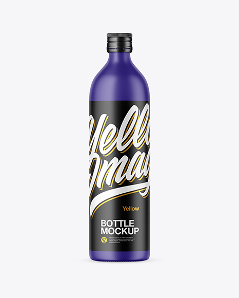 Download Matte Bottle PSD Mockup