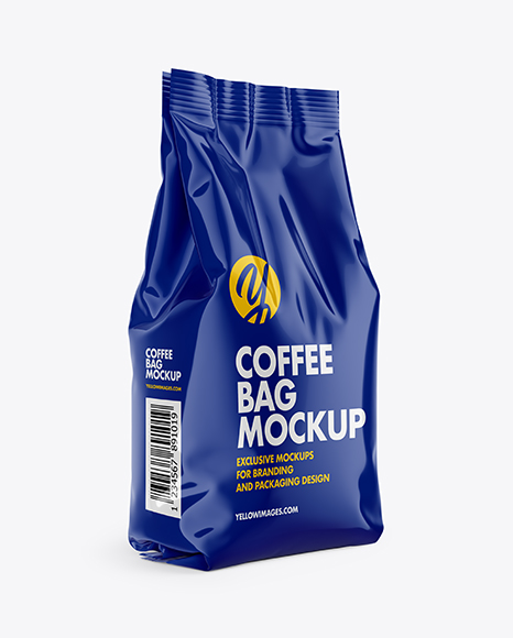 Download Glossy Coffee Bag PSD Mockup