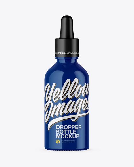 Download Glossy Dropper Bottle PSD Mockup