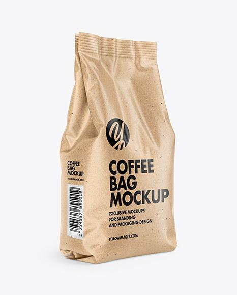Download Kraft Coffee Bag PSD Mockup