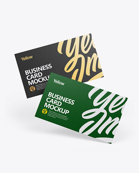 Textured Business Cards Set