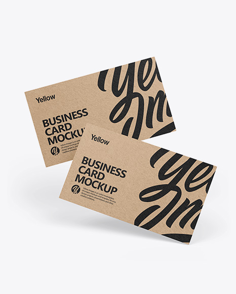 Download Kraft Business Cards PSD Mockup