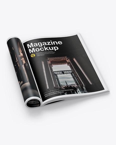 Download Matte A4 Magazine PSD Mockup