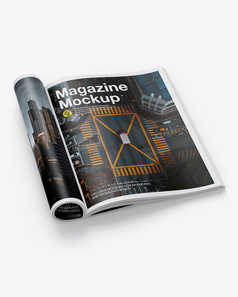 Download Textured A4 Magazine PSD Mockup