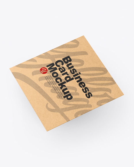 Download Kraft Business Card PSD Mockup