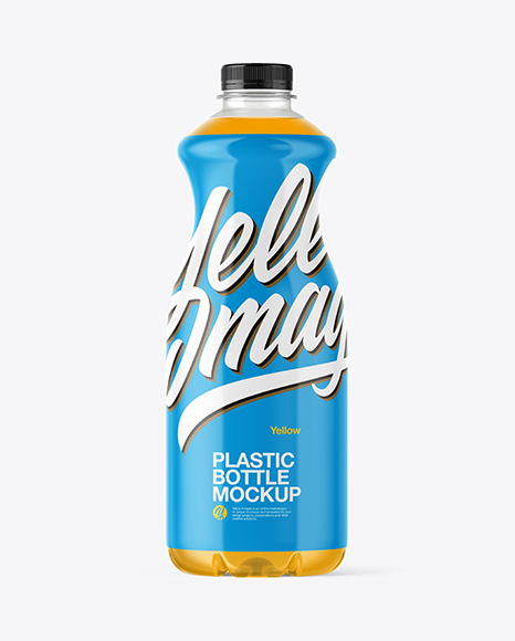 Download Juice Plastic Bottle PSD Mockup