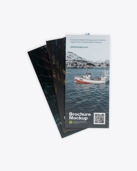 Three Brochures Mockup