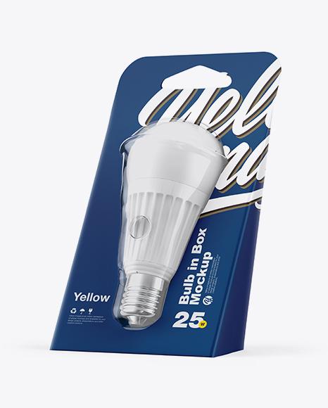 Download Bulb in Box PSD Mockup