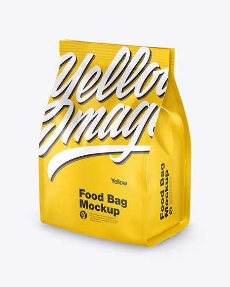 Download Matte Food Bag PSD Mockup