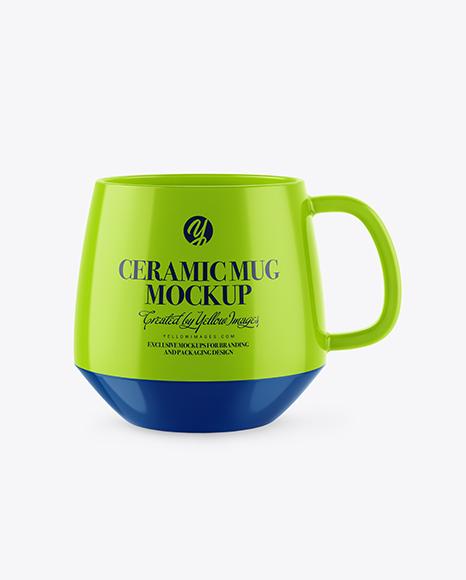 Download Glossy Ceramic Mug PSD Mockup