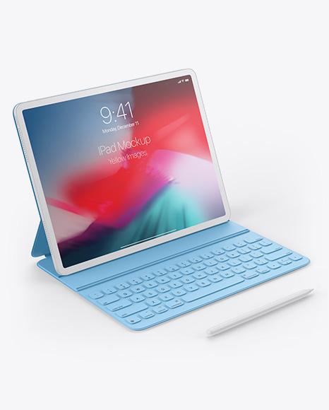 Download Clay Apple iPad Pro 2020 129 PSD Mockup
