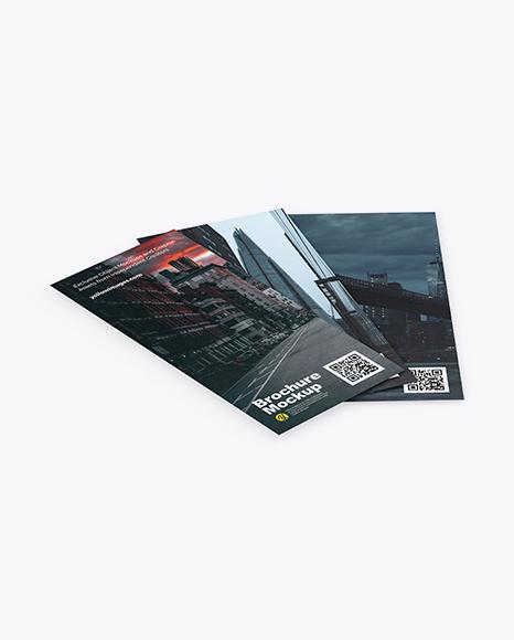 Download Three Textured Brochures PSD Mockup