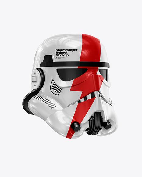 Download Glossy Stormtrooper Helmet PSD Mockup