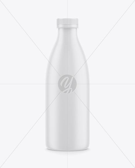 Plastic Matte Drink Bottle Mockup