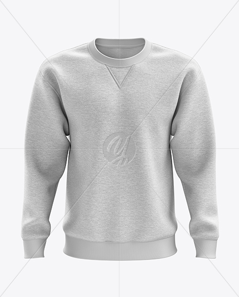 Men's Heather Heavyweight Sweatshirt mockup (Front View)