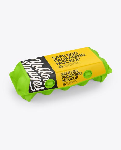 10 Egg Carton Pack Mockup