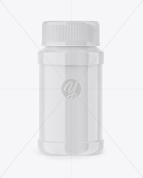 Download Glossy Plastic Bottle Mockup In Bottle Mockups On Yellow Images Object Mockups PSD Mockup Templates