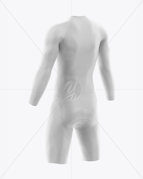 Download Cycling Speed Suit Mockup Back Half Side View Yellowimages