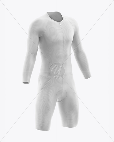 Cycling Speed Suit Mockup - Half Side View