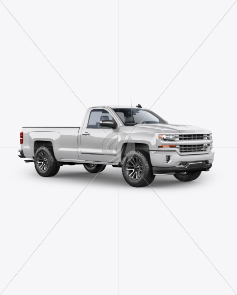 Full-Size Pickup Truck Mockup - Half Side View - Yellowimages Mockups