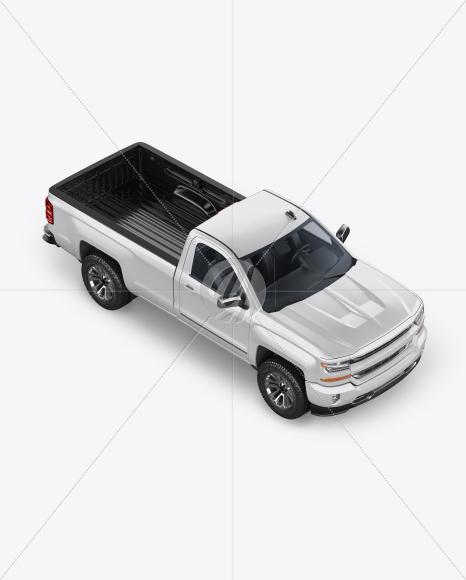 Full-Size Pickup Truck Mockup - Half Side View (High-Angle Shot) - Yellowimages Mockups