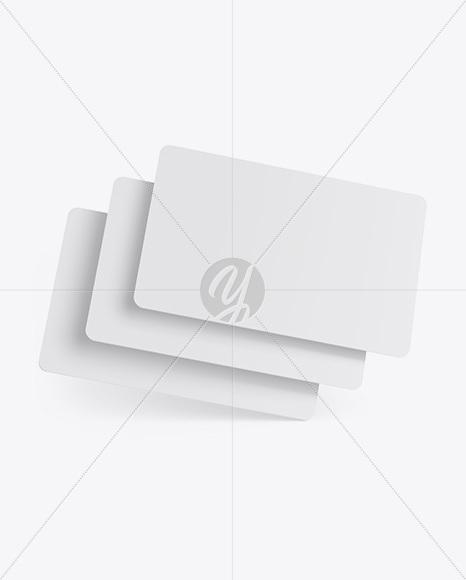 Download Three Plastic Cards Mockup Free Mockups